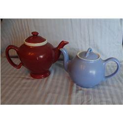 "2 teapots: Hall / McCormick and JPL France Limoges 5"" h teapot"