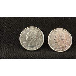 2 Montana quarters, recent dates, fine; 1 Sacagawea dollar, fine, and Coin of undetermined origin