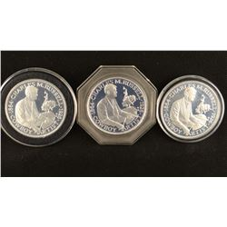 3 C. M. Russell Commemorative coins