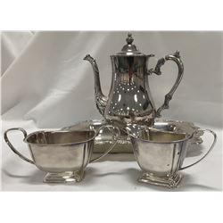 English International Silver 4 pc. tea set, nice