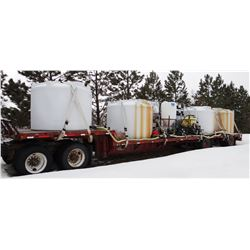 Spray Tender, Handler III & additional induction cone on 1998 Fontaine 48' drop-deck trailer