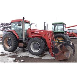 1998 Case IH MX120 tractor, MFWD, 8676 hrs., w/Case IH L300 loader & grapple