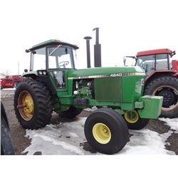 1981 John Deere 4840 tractor, 2WD, 8700 hrs.
