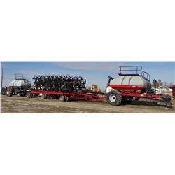 """2012 CASE IH ATX700 air drill, 70'x10"""" spacing, w/Case IH 3430 TBT cart & Flexi-Coil 3450 TBH cart"""