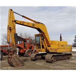 John Deere 690B excavator, rigid thumb, enclosed cab