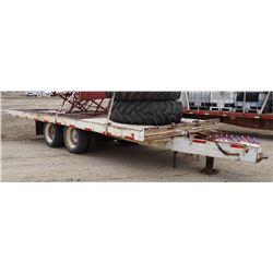 1998 shop-built tilt bed trailer, 24'