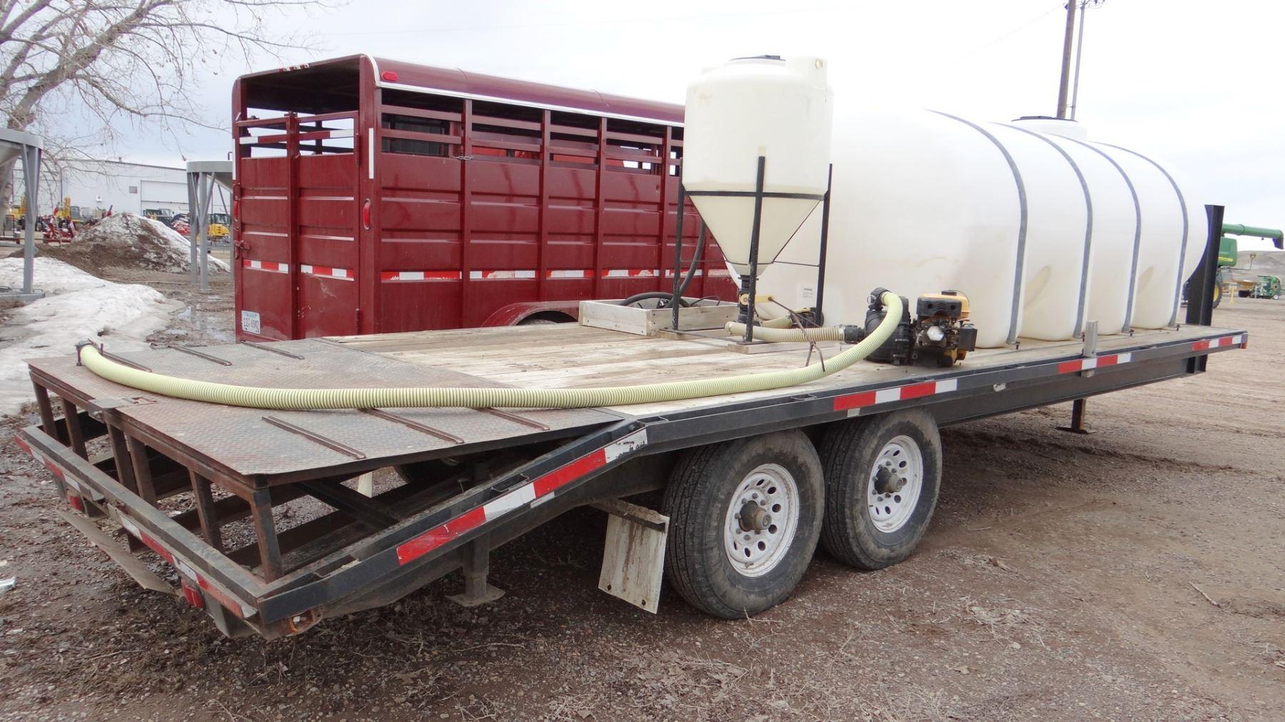 Spray Tender, (1) 1600 gal  poly tank, single 85 gal  induction cone
