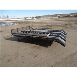 Snowmobile deck, fits 8' pickup bed, w/ ramp
