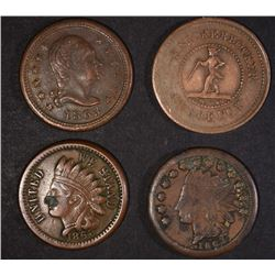 4-DIFFERENT CIVIL WAR TOKENS