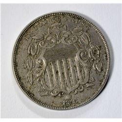 1868 SHIELD NICKEL, AU