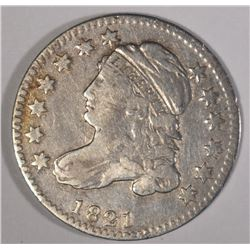 1821 CAPPED BUST DIME VF