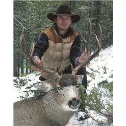 8-Day 2019 Montana Mule Deer/Elk combo Hunt w/ optional Bear for One (1) hunter