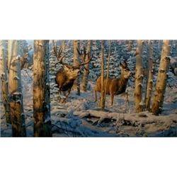 """Buck Fever on No Tellum Ridge"" Leon Parson - Artist Proof 93/98"