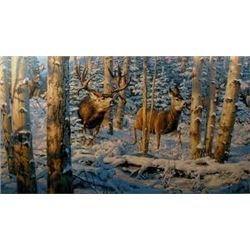 """Buck Fever on No Tellum Ridge"" Leon Parson - Artist Proof 93/98"