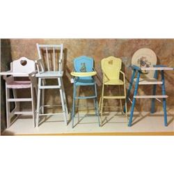 5 Doll High Chairs