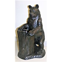 Bear With Tree Stump Planter
