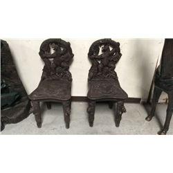 Pair Bear Chairs