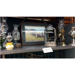 Shelf of Antiques and Collectibles