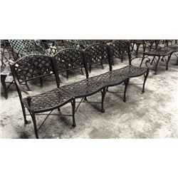 Cross weave 4 Seat Bench