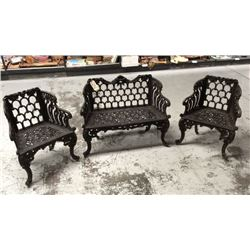 3 pc New York Bench and Chair Set