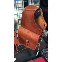 Tooled Leather Saddle Bag-new