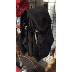 Cordura Black Saddle Bag W/canter-new