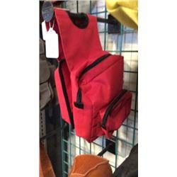 Red Cordura Bottle Saddle Bag-new