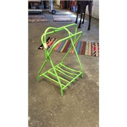 Lime Green Saddle Stand-new