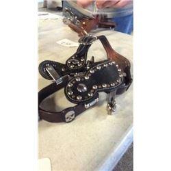 Skull Spurs W/straps-new