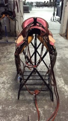 "14"" Cow Girl Up Barrel Saddle Comes w/"