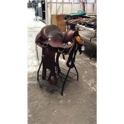"15"" Montana Saddlery Round Skirt Roper w/"
