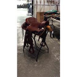 "16"" Montana Saddlery Hard Seat Roper"