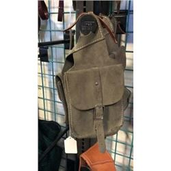 Olive Chap Leather Saddle Bag-new