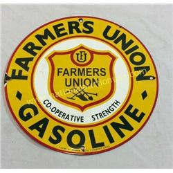 Farmers Union Enamel Sign