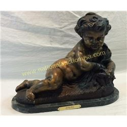 Nude Boy By Moreau. Bronze