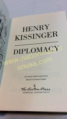 Diplomacy By Henry Kissinger  1st Ed Signed