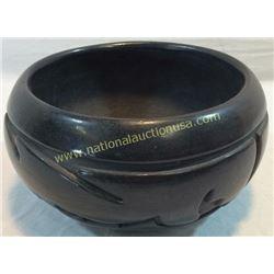 Black Polished Pueblo Pot By Christina Naranjo