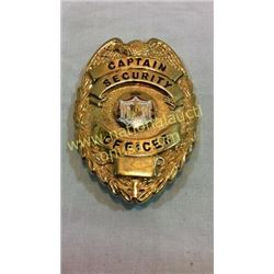 Captain Security Officer Badge