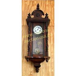 Victorian Walnut Wall Clock