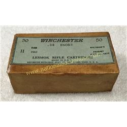 Full Unopened Box Of Winchester 38 Short