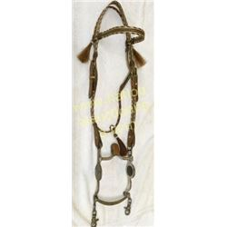 Horse Hair Headstall With Silver Fleming Bit