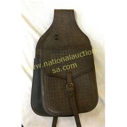 Pair Early Cowboy Tooled Leather Saddle Bags