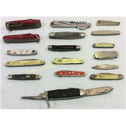 Collection Of 17 Folding Pocket Knives