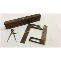 Antique Level Compass And Squares
