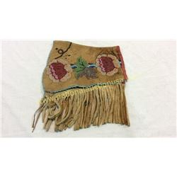 Leather And Beaded Single Cree Cuff 1880s