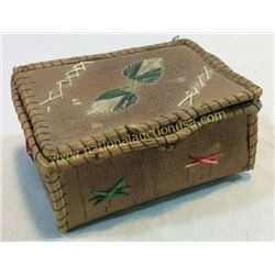 Birch Bark And Quill Box