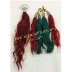 Collection Of 5 Horse Hair Rein Tassels