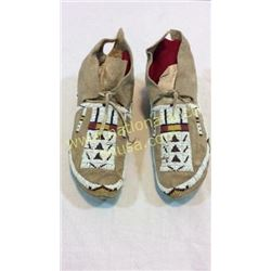 Sioux Moccasins 1920's Brain Tanned