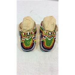 Fully Beaded Child's Ceremonial Moccasins