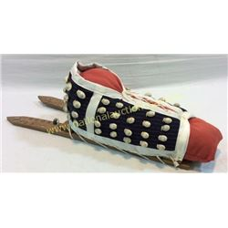 Crow Cradle Board Cowrie Shells 1920's